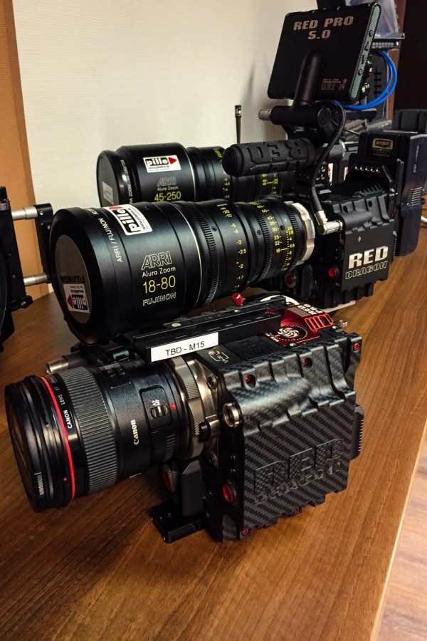 RED EPIC Dragon 6K Carbon Edition Griff Closeup